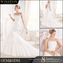 New arrival product wholesale Beautiful Fashion backless sereia casamento vestido