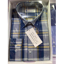 Cotton Yarn Dyed Plaid Fabric Long Sleeve Shirt