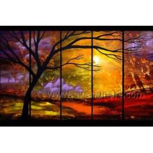 Peinture à l'huile 5 Panels Landscape