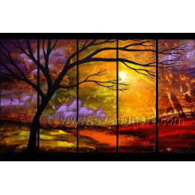 5 Panels Landscape Oil Painting
