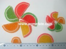 Sugar Coated Fruit Slice Shaped Soft Candy Jelly Gummy Watermelon