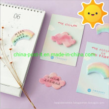 Rainbow and Cloud Shape N Post Sticky Notes Paper Pad