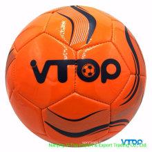 Orange Color PVC /PU / TPU Machine Stitched Soccer