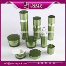 Srs atacado reciclado verde frasco acrílico cosmético para máscara de sonho e garrafa de plástico para loção