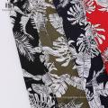 Lote de stock de telas con estampado floral de popelina de rayón