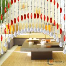 Proveedor de China cuarto de baño decorativo cortinas de ducha con cuentas
