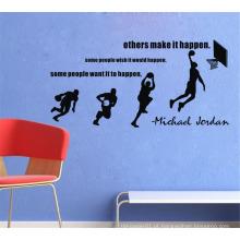 Design de jogador de basquete Kids Bedroom decorativos adesivos de parede