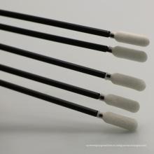 Hisopos con punta de espuma para salas blancas con barra negra
