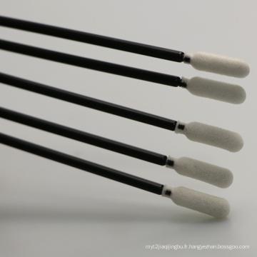 Écouvillons pour salle blanche à pointe de mousse avec bâton noir