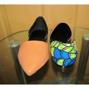 New African Printed Fabrics Fashion Flat Shoes (HCY02-1801)