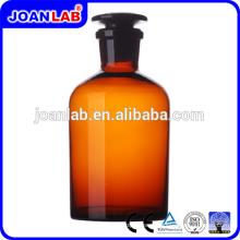JOAN LAB Glassware Amber Chemical Reagent Garrafa com tampa de vidro