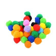 Factory wholesale 1cm -- 3 cm in diameter colorful polypropylene craft PomPom For kids DIY