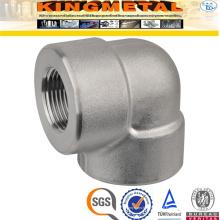 F316 acier inoxydable 90 D raccords filetés de tuyau de coude