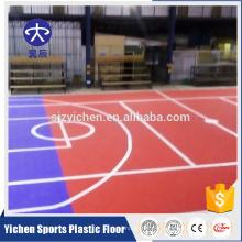 Revêtement de sol extérieur en polypropylène pour les courts de tennis