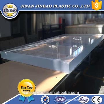 A piscina de 1220 * 2440 1500 * 2500mm usou o plexiglass claro de 50mm