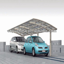 Good quality Echonomic Aluminum Alloy Car Shed with polycarbonate roof