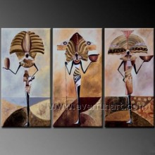 Modern Abstract African Figure Oil Painting on Canvas