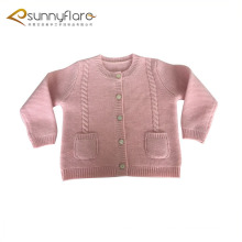 Wholesale 100% pure cashmere kids cardigans sweater