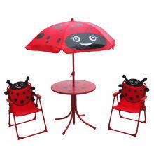 Verschiedene Art-nette scherzt faltbare tragbare Tabelle und Stuhl Set \ Children Leisure im Freien unter Verwendung der Tabelle und des Armlehnen-Stuhl-Satzes