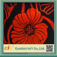 sofá de tecido padrão floral para sofá veludo tecido padrão feito na china