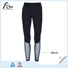 Pantalones de compresión personalizada Lady Sexy Mesh Sports Wear