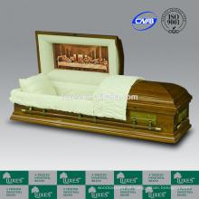 LUXES última ceia caixão caixões de Funeral estilo americano