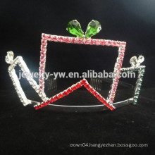 fashion metal silver plated crystal baby headband wholesale