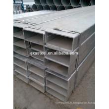 Grande tubulure en acier galvanisé carré OD 100 * 1150
