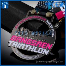 Hight Quality Custom Design Zinc Alloy Médaille sportive colorée