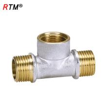 J17 4 12 2 hochwertiges T-Stück Rohrverschraubung 3-Wege-Kupferrohrnippel passend zur Reduzierung der Kupplung