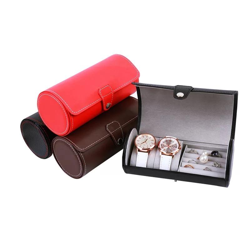 Watch Box Black PU Leather