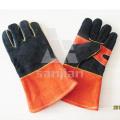 Двойная Ладонь Черный Оранжевый Кожаный АВ/BC Ранг Сварки Безопасности Перчатки