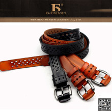 Nice design ladies fashion top leather authentic belts