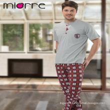 Miorre Men's Sleepwear %100 Cotton Pajamas Set