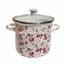 flower all body design enamel cookware enamel high stock pot