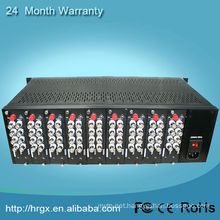 Fully stocked 3U video multiplexer rack mount