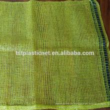 Boa qualidade saco de malha PE, vermelho e violeta raschel saco de malha para embalagem vegetal