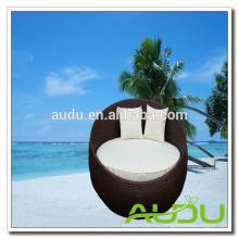 Audu Contemporary Daybed - Черная ротанга на открытом воздухе с подушками