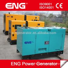 Fornecimento de estoque de gerador de energia de 25kva Canopy silencioso com gerador a diesel com motor CUMMINS