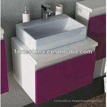 Nuevos muebles de baño de MDF Fregadero de vaso de vidrio