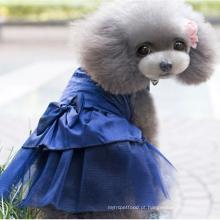 Vestido de casamento do animal de estimação do vestido bonito de venda quente do cão do verão para o cão