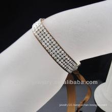 Hot sale fashion Girls Ribbon Rhinestone Bracelet