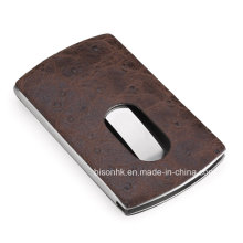 Hand Push PU Business Card Holder