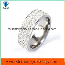 Shineme joyas de acero inoxidable multil piedras dedo anillo (czr2583)