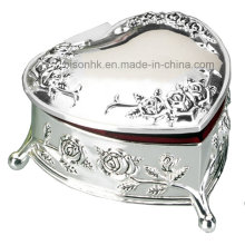 High Quality Silver Gift Jewelry Box, Heart Shape Jewelry Box