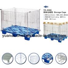Gaiola de dobramento da pálete da rede de arame do metal do armazenamento para o armazém
