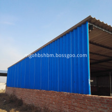 Iron-Crown PET-Membrane MgO Roofing Sheet For Cattle House