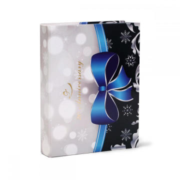 2018 Luxury Silver Ribbon Box med magneter