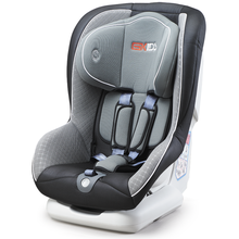 Child car seats with green orange  covers