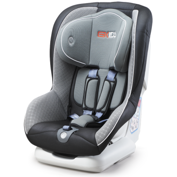 Baby car seat with orange-red cover